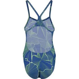 speedo MirrorFizz Allover Turnback Swimsuit Women Blue/Green